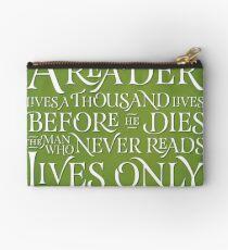 A Reader Lives A Thousand Lives Studio Pouch