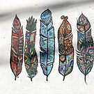 5 colorful feathers in Tbilisi by Masaharu Hayataki