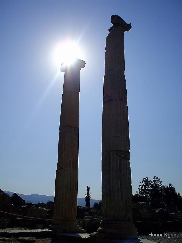 Holding up the Sun - Ancient Pillars - Ephesus by Honor Kyne