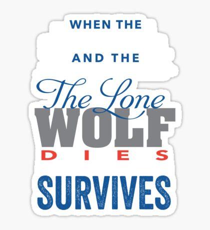 The Lone Wolf Sticker