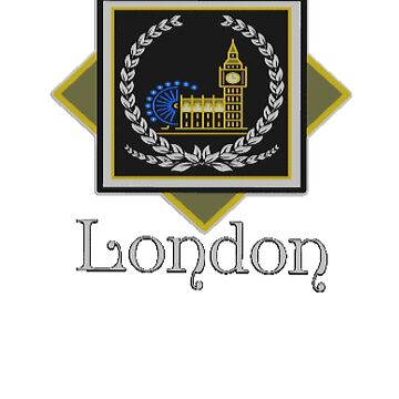 City of London Patch Design London Eye London Parliament, London England London Souvenir Design by gallerytees