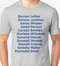 The 22 Trueborn sons of Walder Frey Unisex T-Shirt