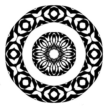 Rosette 01 black and white by patricmouth