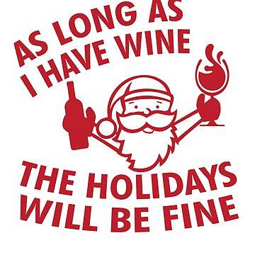 Santa Claus drinks wine by tarek25