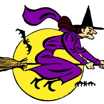 Witch Flying By Full Moon  by BlackStarGirl