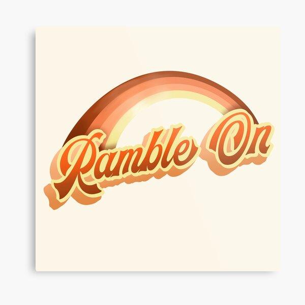 Ramble On Retro Seventies Rainbow Graphic Metal Print