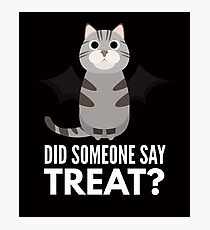 American Shorthair Halloween Trick or Treat Photographic Print