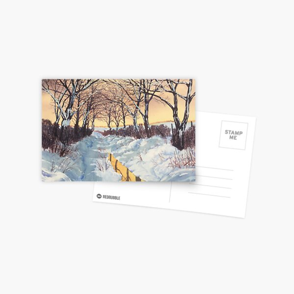 Tunnel of Trees in Winter Postcard