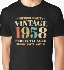 Retro Vintage 1958 Awesome 60th Birthday Gift Graphic T-Shirt