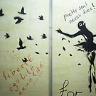 Pretty Soul never dies - graffiti in Tbilisi by Masaharu Hayataki