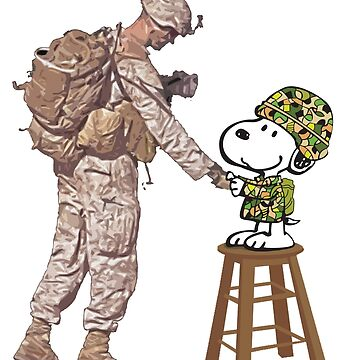 Thank You Veterans for Your Service, Snoopy T-Shirt by danny911