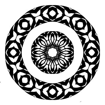 Rosette 02 black and white by patricmouth
