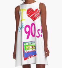 RETRO 90'S CASSETTE POPMUSIK ERA A-Line Dress