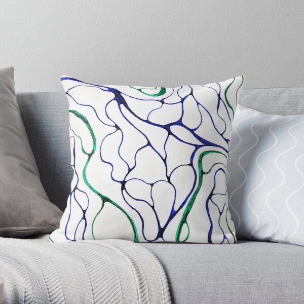 Bends in the road Throw Pillow