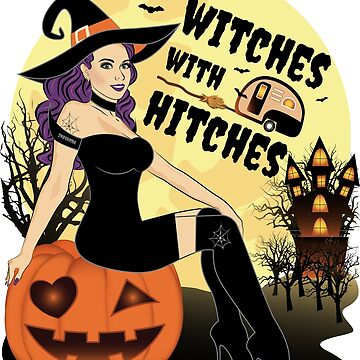 Witches With Hitches Halloween Pumpkin by ZNOVANNA