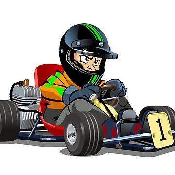 Cartoon cart with kid racer by Mechanick