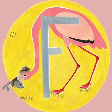F is for Flamingo by lillylotus