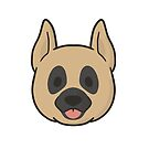 Great Dane Face by ncdoggGraphics