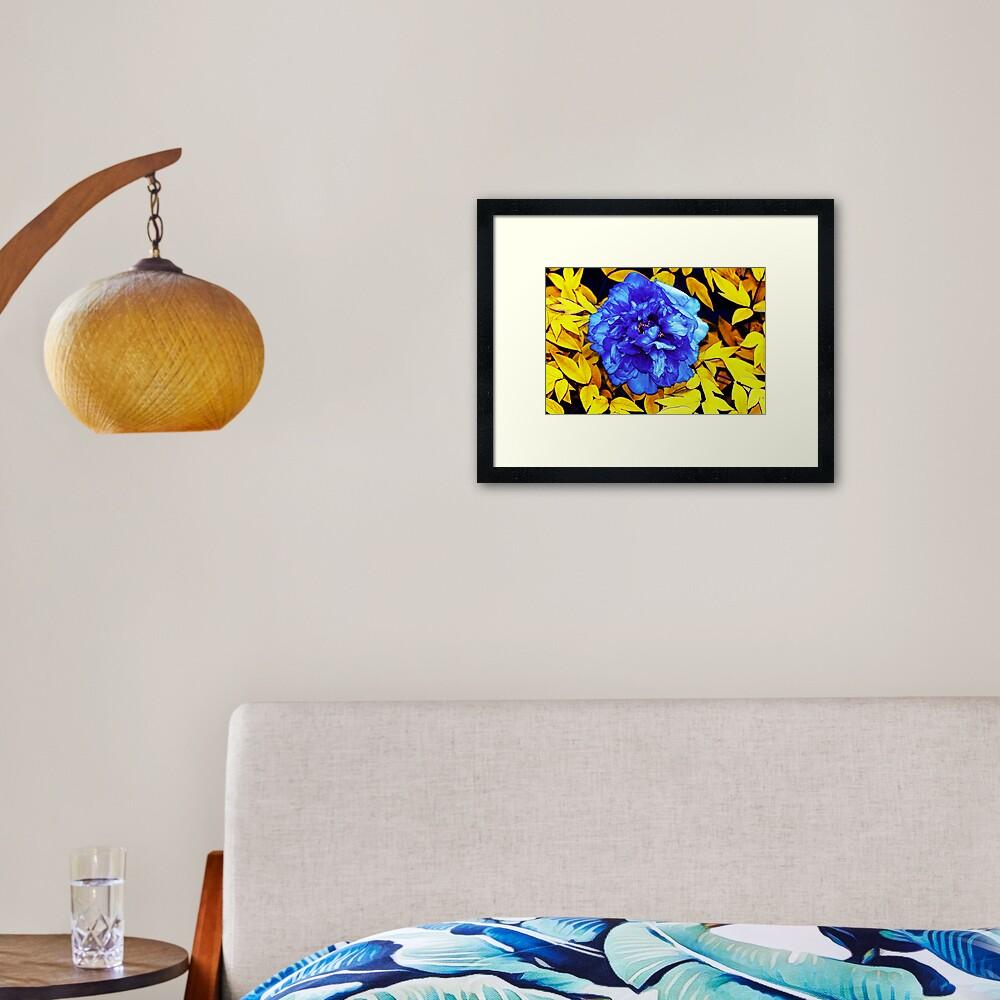 Flower Abstraction Framed Art Print