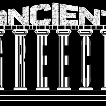 Ancient Greece funny Temple Typography Souvenir by peter2art