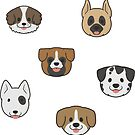 The Many More Faces of Dogs by ncdoggGraphics