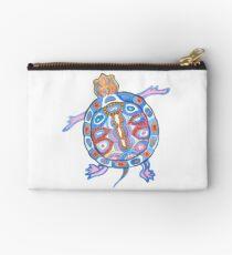 Sea Turtle - Aqua Blue Palette | Folk design Studio Pouch