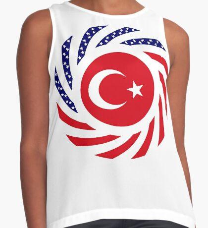 Turkish American Multinational Patriot Flag Series Sleeveless Top