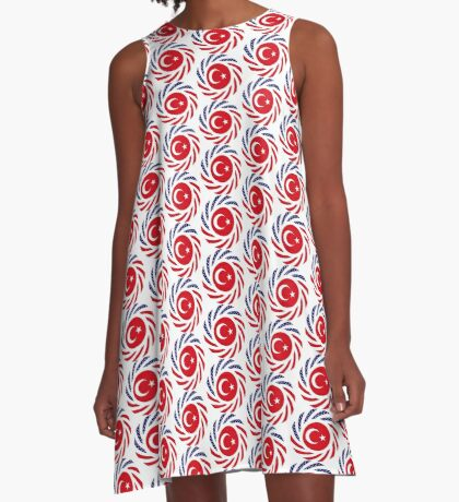 Turkish American Multinational Patriot Flag Series A-Line Dress