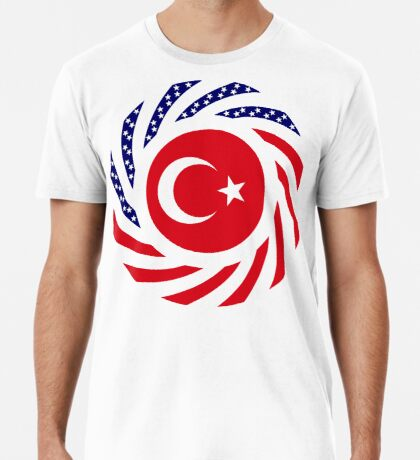 Turkish American Multinational Patriot Flag Series Premium T-Shirt