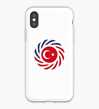 Turkish American Multinational Patriot Flag Series iPhone Case