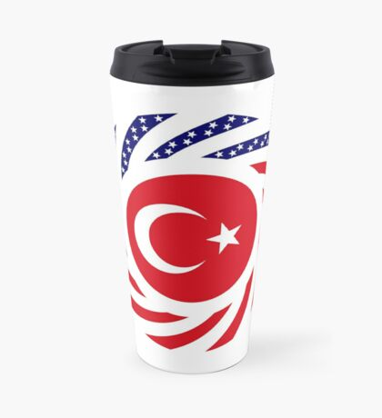 Turkish American Multinational Patriot Flag Series Travel Mug
