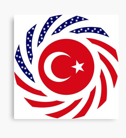Turkish American Multinational Patriot Flag Series Canvas Print
