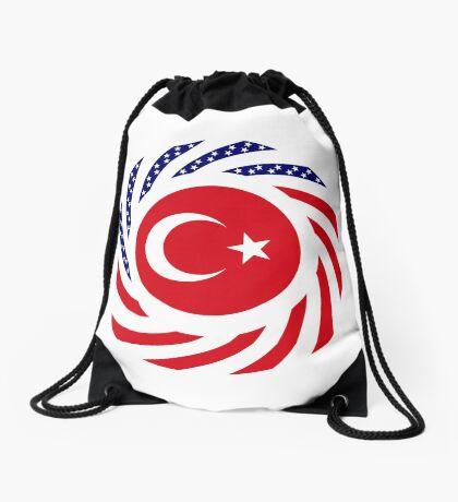Turkish American Multinational Patriot Flag Series Drawstring Bag