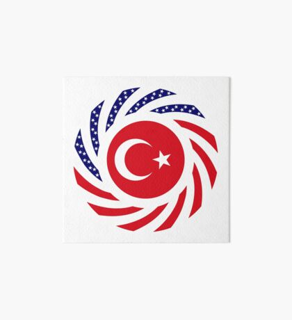 Turkish American Multinational Patriot Flag Series Art Board Print