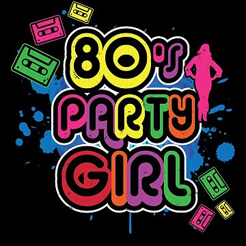 80s Party Girl Halloween Costume Shirt by Teeshirtrepub