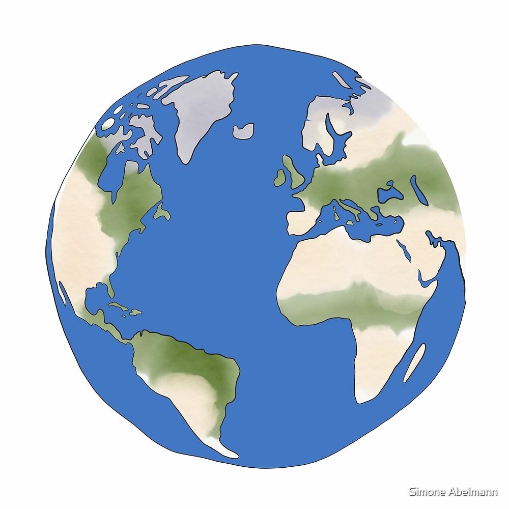 Weltkugel, World von Simone Abelmann