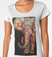Camiseta premium de cuello ancho elefante adornado 34