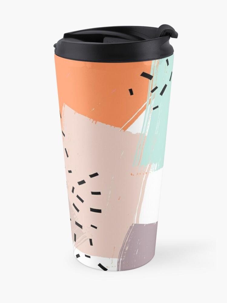Alternate view of Snigger // Abstract Pattern Bright Travel Mug