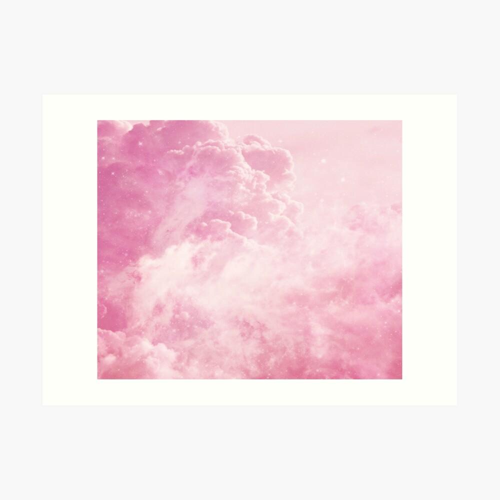 Süßigkeit-Baumwollwolken Kunstdruck