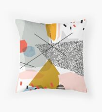 A collage beginning with F // Abstract Retro Throw Pillow