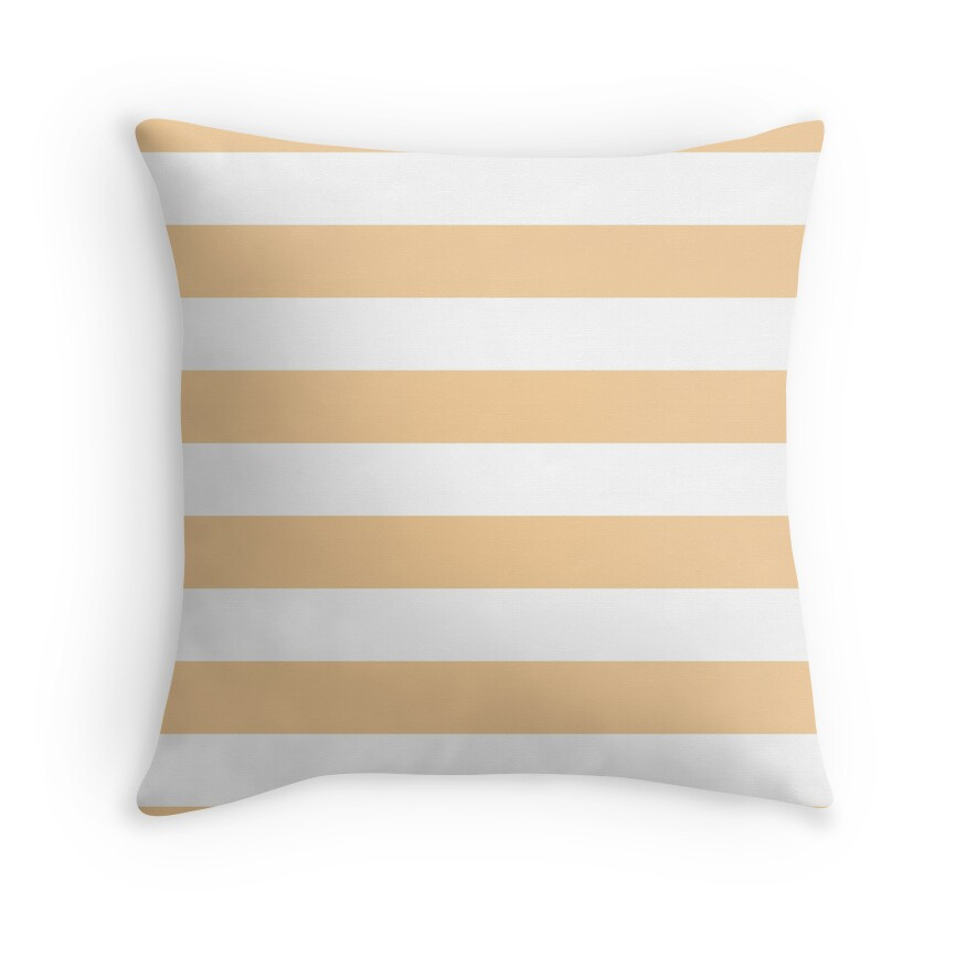 Pale Soybean and White Wide Horizontal Cabana Tent Stripe