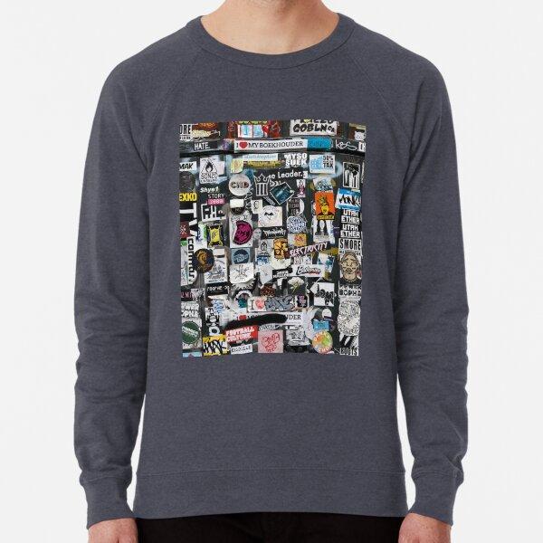 Sticker Wall Lightweight Sweatshirt