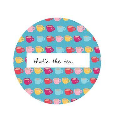 That's the tea by azaleas