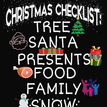 Christmas Checklist, Tree, Santa, Presents, Food .. by tarek25