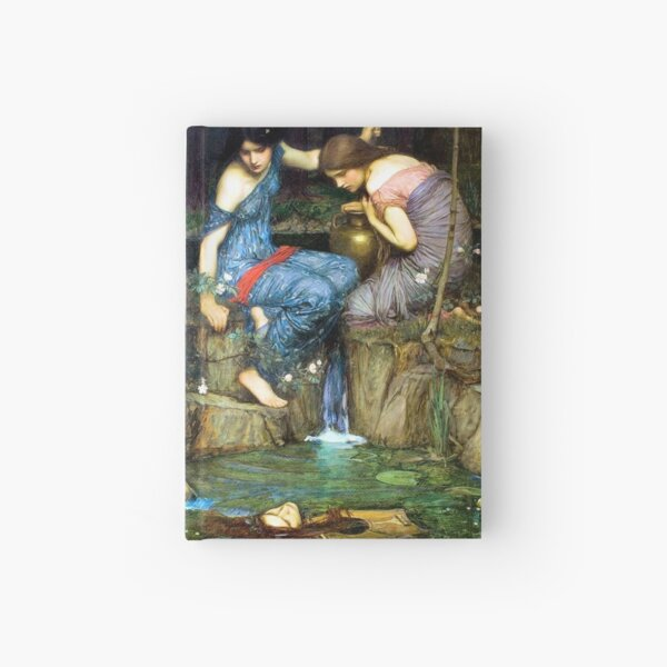 Nymphs Finding the Head of Orpheus - John William Waterhouse Hardcover Journal