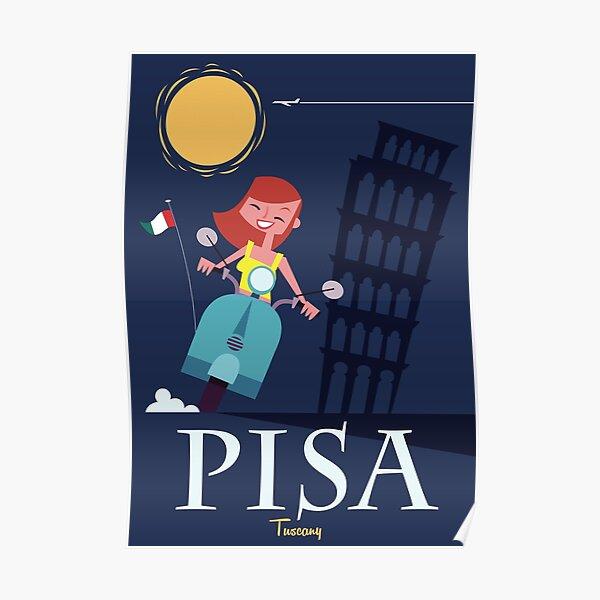Pisa Travel Poster Poster