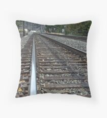 On Track Throw Pillow