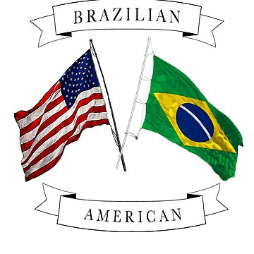 Brazilian American ancestry flag design by jhussar