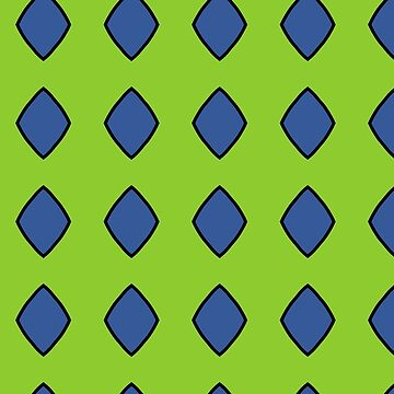 Blue diamonds on a green background by patricmouth