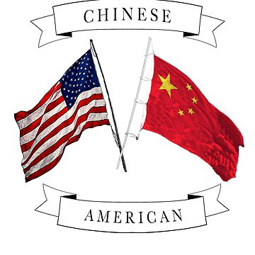 Chinese American ancestry flag design by jhussar